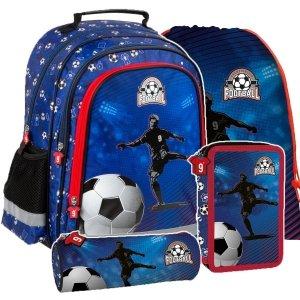 ZESTAW 4 el. Plecak szkolny FOOTBALL Piłka nożna (PL15BPI15SET4CZ)