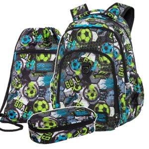 ZESTAW 3 el. Plecak CoolPack STRIKE L 27 L piłka nożna, FOOTBALL (C18230SET3CZ)