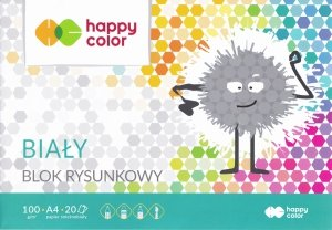 Blok rysunkowy A4  20 kartek HAPPY COLOR (06606)