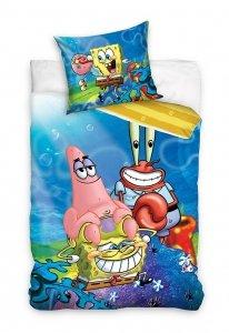 Pościel bawełniana Spongebob Kanciastoporty 140 x 200 cm komplet pościeli (SBOB201001)