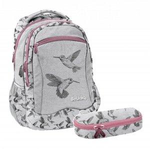 ZESTAW 2 el. Plecak szkolny młodzieżowy KOLIBER Paso (PPKB20-2808SET2CZ)