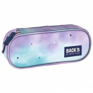 Piórnik szkolny BackUP pastelowe gwiazdy, PASTEL STARS (PB4A20)
