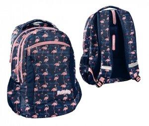 Plecak szkolny młodzieżowy różowe flamingi, FLAMINGO Paso (PPNG20-2808)