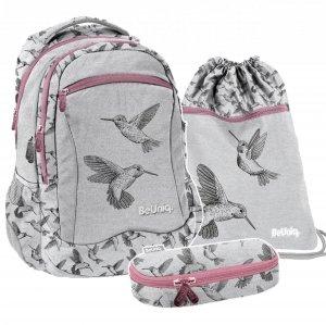 ZESTAW 3 el. Plecak szkolny młodzieżowy KOLIBER Paso (PPKB20-2808SET3CZ)