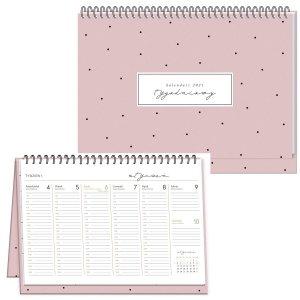 Kalendarz na biurko 2021 DOTS planer tygodniowy INTERDRUK (93312)