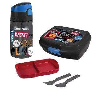 Zestaw bidon i śniadaniówka CoolPack koszykówka, BASKETBALL (Z01231+Z02231)