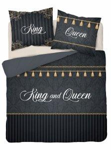 Pościel bawełniana HOLLAND COLLECTION 160 x 200 cm Queen & King komplet pościeli (3601A)