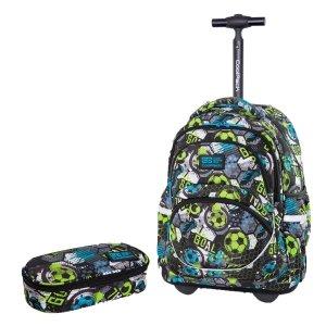 ZESTAW 2 el. Plecak CoolPack STARR 27 L na kółkach piłka nożna, FOOTBALL (C35230SET2CZ)