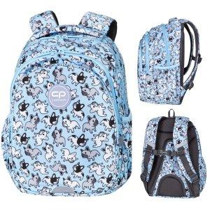 Plecak wczesnoszkolny CoolPack JERRY 21 L buldogi, CUTE BULLDOGS (D029333)