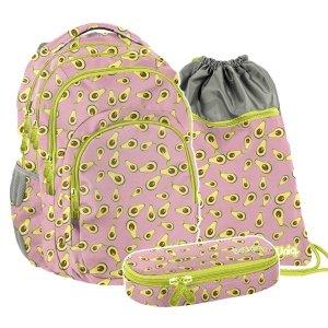 ZESTAW 3 el. Plecak szkolny młodzieżowy awokado, AVOCADO Paso (PPAV20-2706SET3CZ)