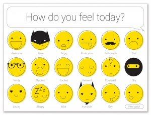 Podkładki papierowe EMOTIKONY How do you feel ?, 24 sztuki (PPR000500)