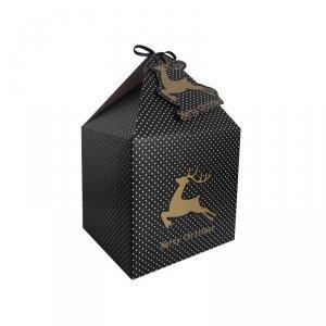 Pudełko prezentowe świąteczne na prezent 4 szt. BIAŁE KROPKI Incood. ( 0040-0130)