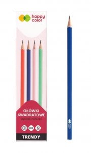 Ołówek kwadratowy TREND HB 12 szt HAPPY COLOR (42874)
