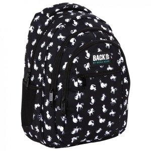 Plecak szkolny młodzieżowy BackUP 26 L KOTY CZARNO BIAŁE (PLB4O34)