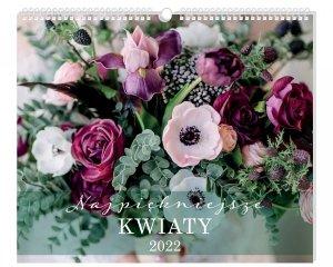 Kalendarz ścienny planszowy KWIATY 40 x 33,5 cm 2021 (01185)