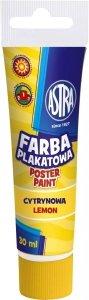 Farba plakatowa w tubie 30 ml cytrynowa ASTRA (83110908)