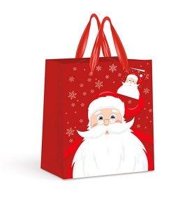 Torebka świąteczna na prezent MIKOŁAJ Interdruk (92285)