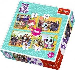 TREFL Puzzle 4 w 1 Świat według zwierzaków, Miłe wspomnienia (34295)