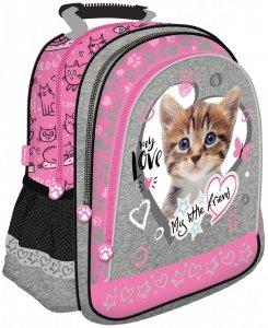 Plecak szkolny St. Majewski My Little Friend CAT PINK, Kotek w różu (05026)