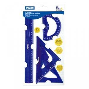 Zestaw geometryczny 4 el. ACID Milan 30 cm niebieski (359801)