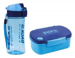 Zestaw bidon i śniadaniówka BackUP niebieski (BB4A+SB4B58)