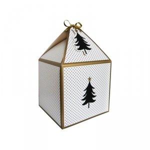 Pudełko prezentowe świąteczne na prezent 4 szt. CZARNA CHOINKA Incood. ( 0040-0129)