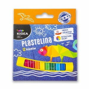 Plastelina mała 12 kolorów KIDEA (PM12KKA)