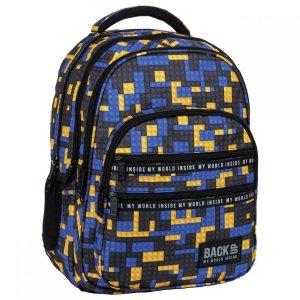 Plecak szkolny młodzieżowy BackUP 28 L klocki, BRICKS (PLB3M52)