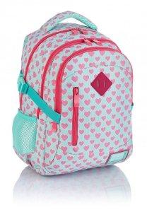 Plecak HEAD w różowe serca, PINK HEARTS HD-241 (502019025)