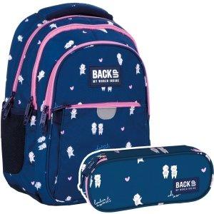 ZESTAW 2 el. Plecak wczesnoszkolny BackUP 24 L MISIE (PLB4P14SET2CZ)