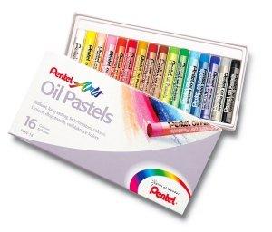 Pastele olejne szkolne 16 kolorów PENTEL (PEN16)