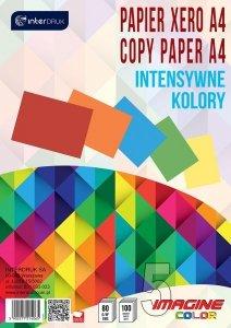 Papier ksero kolorowy A4  5 intensywnych kolorów 100 arkuszy (14065)