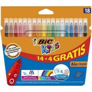 Flamastry Kid Couleur 18 kolorów BIC (03233)