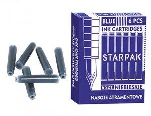 Naboje atramentowe do pióra niebieskie 6 sztuk STARPAK (299829)