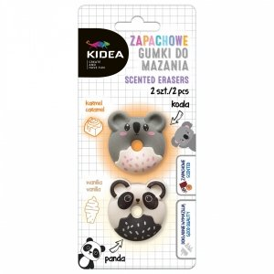 Gumka gumki do mazania zapachowe KOALA PANDA 2 szt. KIDEA (GMZPK2KA)