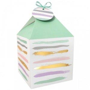 Pudełko prezentowe na prezent 4 szt. PASTELOWO- ZŁOTE Incood. ( 0040-0162)
