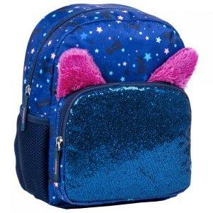 Plecak wycieczkowy BackUP z uszami GLOSSY NAVY (PLB3U58)