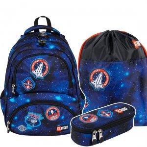 ZESTAW 3 el. Plecak szkolny młodzieżowy ST.RIGHT misja kosmiczna, COSMIC MISSION BP7 (27460SET3CZ)