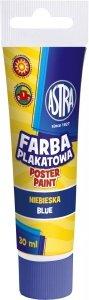 Farba plakatowa w tubie 30 ml niebieska ASTRA (83110905)