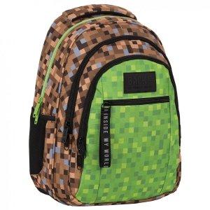 Plecak szkolny młodzieżowy BackUP 26 L GAME dla fana gry MINECRAFT (PLB4O68)