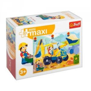 TREFL Puzzle miniMaxi 20 el. Pojazdy, Koparka (21050)