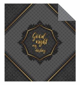 Narzuta na łóżko 170 x 210 cm GOOD NIGHT (WZ.K008)