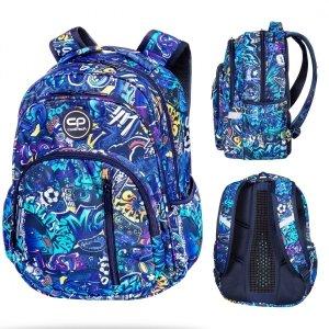 Plecak CoolPack BASE 27 L niebieskie wzory, GRAFITTI (D027335)