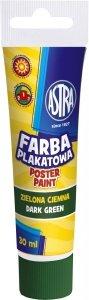 Farba plakatowa w tubie 30 ml zielona ciemna ASTRA (83110906)