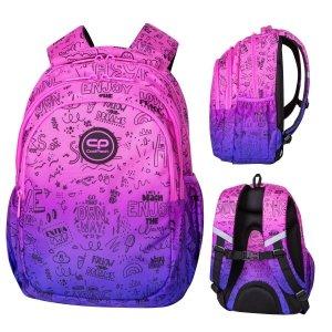 Plecak wczesnoszkolny CoolPack JERRY 21 L fioletowe ombre, PURPLE SCRIBBLE (D029341)