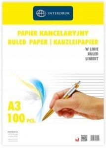 Papier kancelaryjny w linie 100 arkuszy (60041)