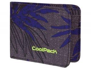 Portfel młodzieżowy CoolPack PATRON PALM LEAVES 975 szary w liście (71215)