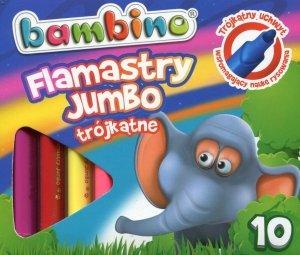 Flamastry trójkątne Jumbo 10 kolorów BAMBINO (03189)