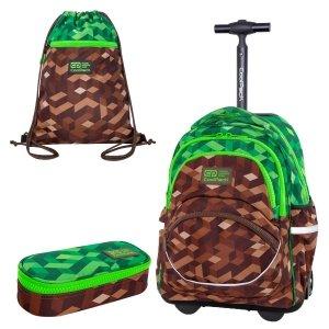 ZESTAW 3 el. Plecak CoolPack STARR 27 L na kółkach miejska dżungla, CITY JUNGLE (C35199SET3CZ)