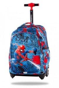 Plecak CoolPack JACK na kółkach Spiderman na niebieskim tle, SPIDERMAN DENIM (B53304)